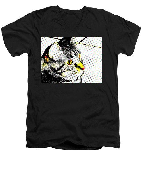 Melvin In Dots Men's V-Neck T-Shirt