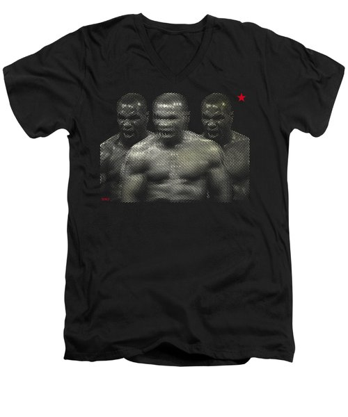 Memorabilia Tyson  Men's V-Neck T-Shirt by Surj LA