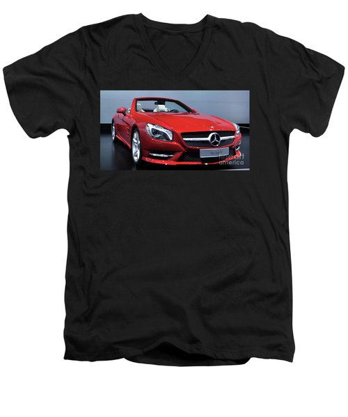 Mercedes Benz Sl Men's V-Neck T-Shirt