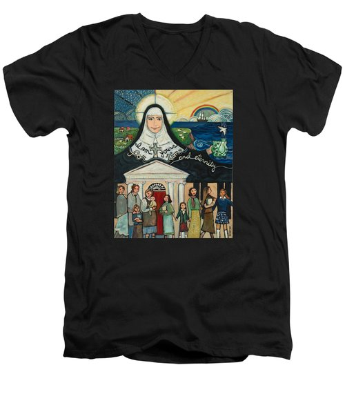 Mercy Foundress Catherine Mcauley Men's V-Neck T-Shirt