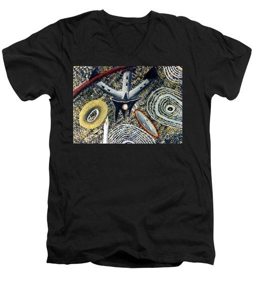 Merkavah Castle Men's V-Neck T-Shirt by Luke Galutia