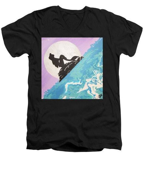 Mermaid Men's V-Neck T-Shirt by Cyrionna The Cyerial Artist
