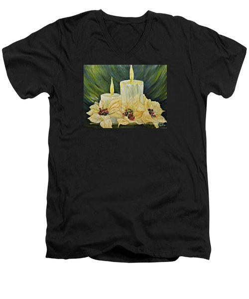 Our Lady And Child Jesus Men's V-Neck T-Shirt by AmaS Art