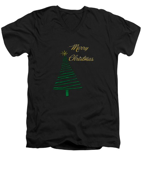 Merry Christmas Tree Men's V-Neck T-Shirt