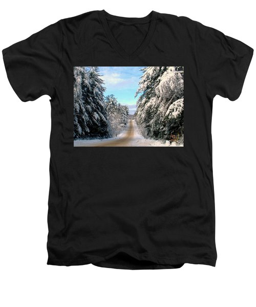 Merry Christmas,happy Holidays Men's V-Neck T-Shirt