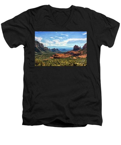 Merry Go Round Arch, Sedona, Arizona Men's V-Neck T-Shirt