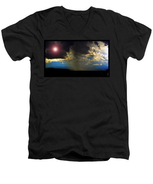Mesa Thunderstorm Vistas Men's V-Neck T-Shirt by Susanne Still