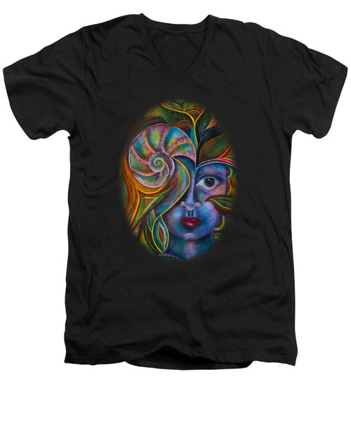 Mesmerize Men's V-Neck T-Shirt by Deborha Kerr