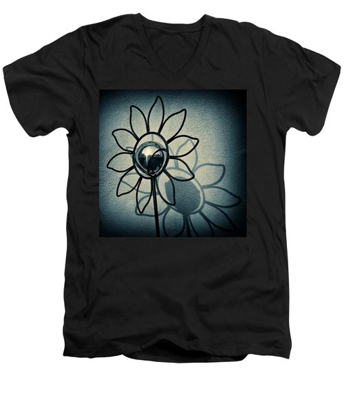 Metal Flower Men's V-Neck T-Shirt