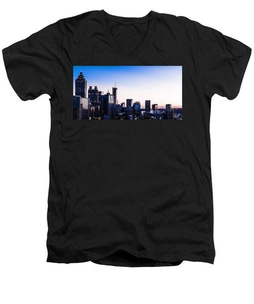 Metallic Sunset Men's V-Neck T-Shirt