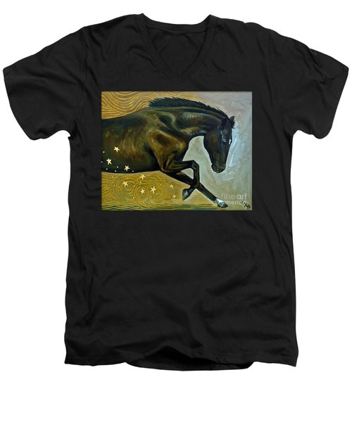 Meteor Shower Men's V-Neck T-Shirt