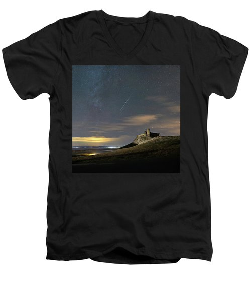Meteors Above The Fortress Men's V-Neck T-Shirt