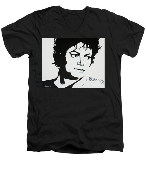 Michael Jackson Men's V-Neck T-Shirt by Katharina Filus