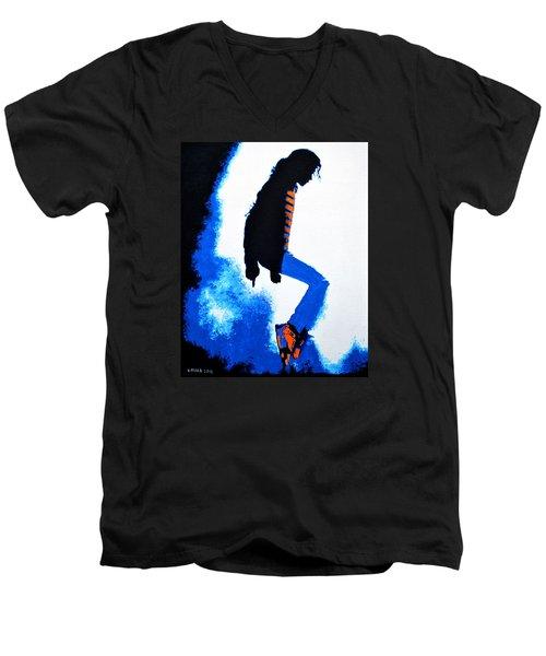 Michael Jackson Men's V-Neck T-Shirt by Victor Minca