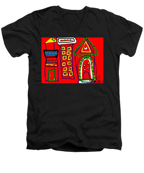 Michael Landon Little House On The Prairie Men's V-Neck T-Shirt