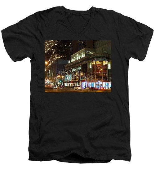 Michigan Avenue  Men's V-Neck T-Shirt