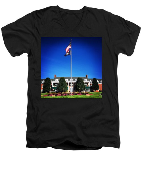 Michigan Masonic Home Men's V-Neck T-Shirt