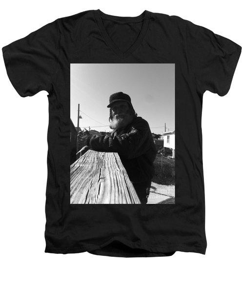 Mick Lives Across The Street Not In The Streets Men's V-Neck T-Shirt