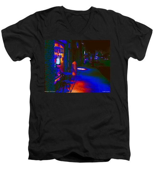 Midnight Coffee Dream Men's V-Neck T-Shirt