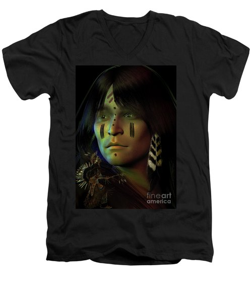 Midnight Dreaming Men's V-Neck T-Shirt by Shadowlea Is
