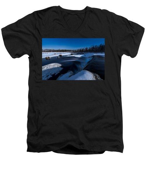 Midnight Falls Men's V-Neck T-Shirt