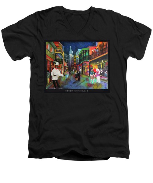 Midnight In New Orleans Men's V-Neck T-Shirt
