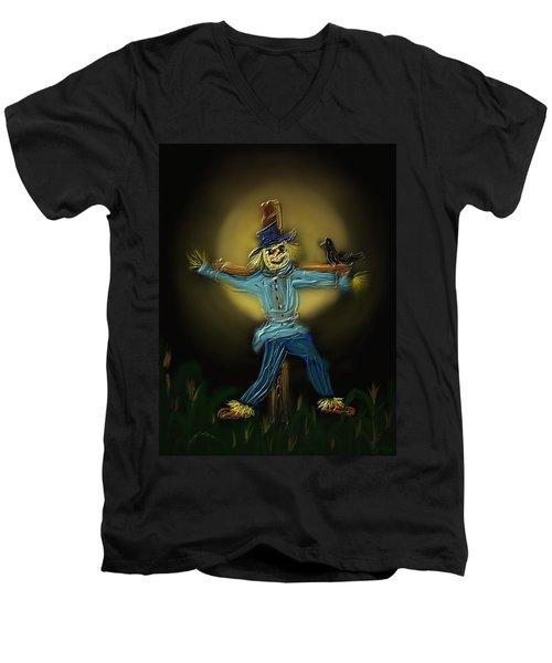 Midnight In The Cornfield Men's V-Neck T-Shirt by Kevin Caudill