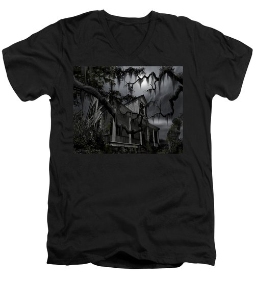 Midnight In The House Men's V-Neck T-Shirt