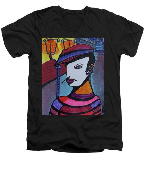 Midnight Mime Men's V-Neck T-Shirt
