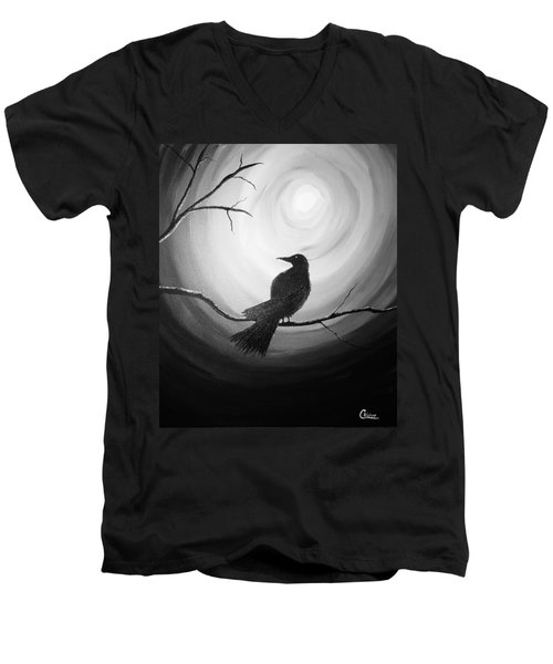 Midnight Raven Noir Men's V-Neck T-Shirt