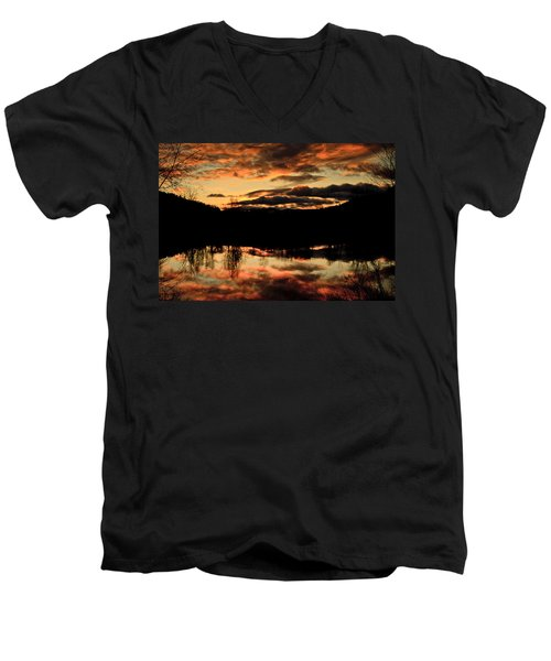 Midwinter Sunrise Men's V-Neck T-Shirt