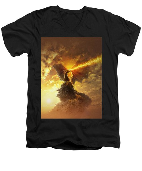 Mighty Dragon Men's V-Neck T-Shirt