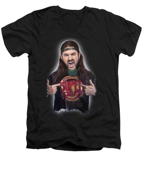 Mike Portnoy Men's V-Neck T-Shirt by Melanie D