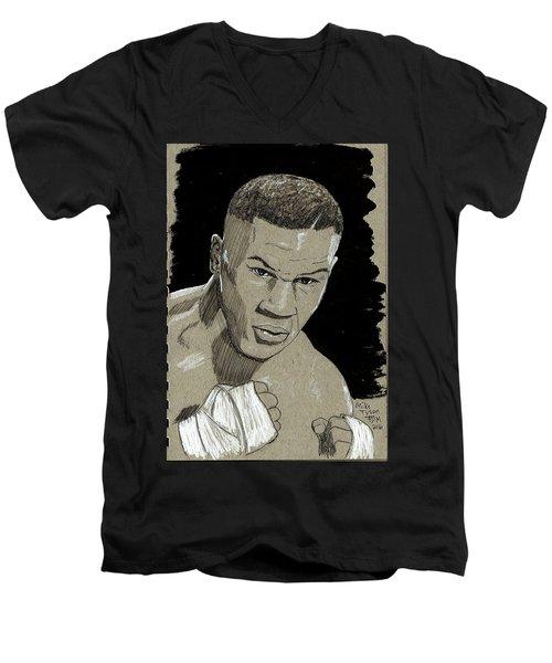 Mike Tyson Men's V-Neck T-Shirt
