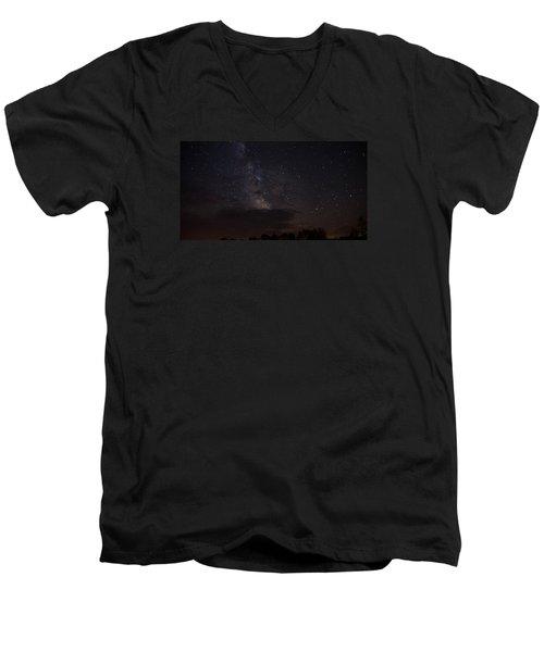 Milky Way Men's V-Neck T-Shirt by Gary Wightman