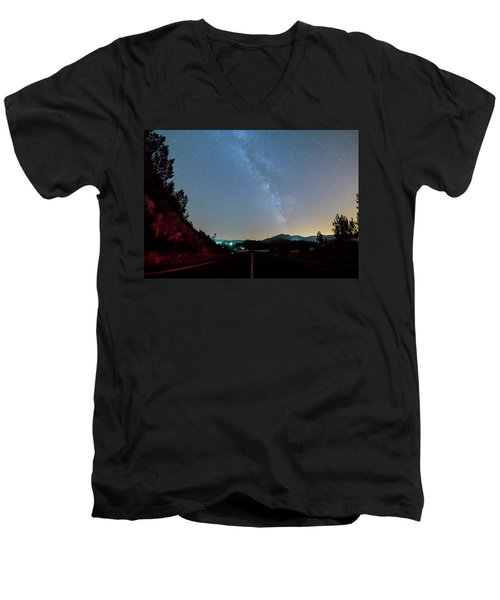 Milky Way Geres 2 Men's V-Neck T-Shirt