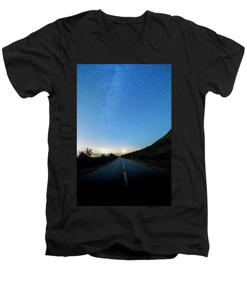 Milky Way Geres 4 Men's V-Neck T-Shirt