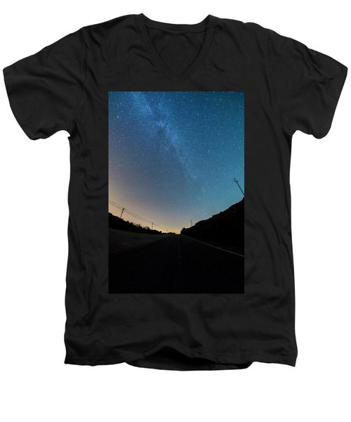 Milky Way Geres 5 Men's V-Neck T-Shirt