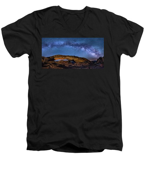 Milky Way Over Mesa Arch Men's V-Neck T-Shirt