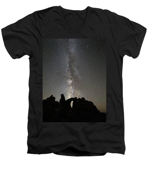 Milky Way Over Turret Arch Men's V-Neck T-Shirt