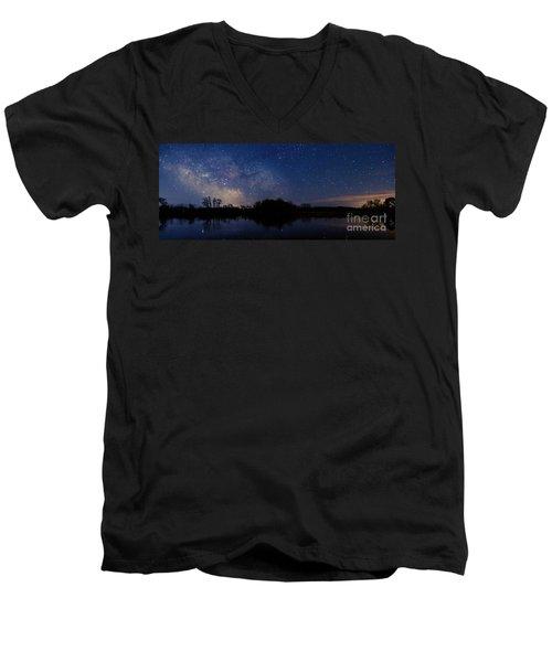 Milky Way Rising Men's V-Neck T-Shirt