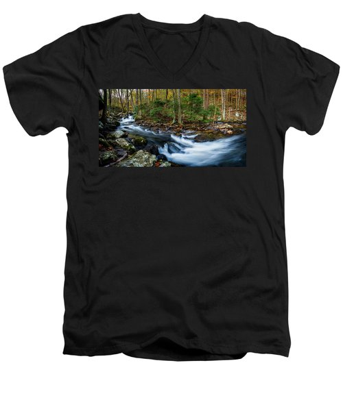 Mill Creek In Fall #2 Men's V-Neck T-Shirt