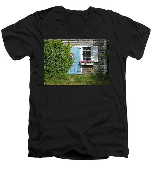 Millway Scene In Barnstable Men's V-Neck T-Shirt