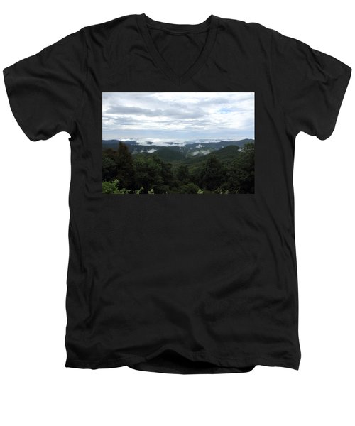 Mills River Valley View Men's V-Neck T-Shirt