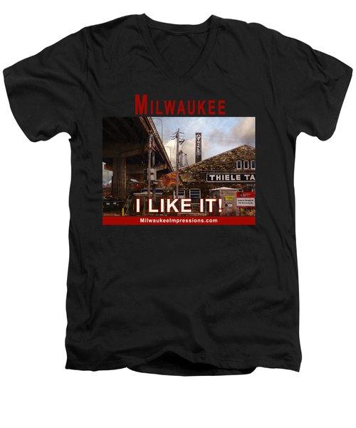 Milwaukee - I Like It - Thiele Tanning Men's V-Neck T-Shirt