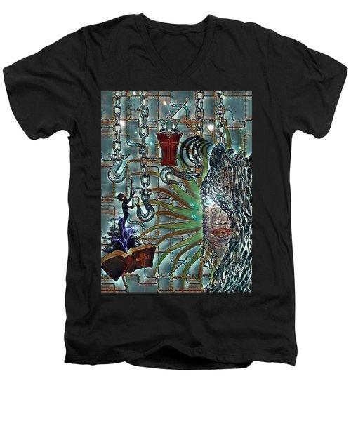 Mind Genocide Men's V-Neck T-Shirt