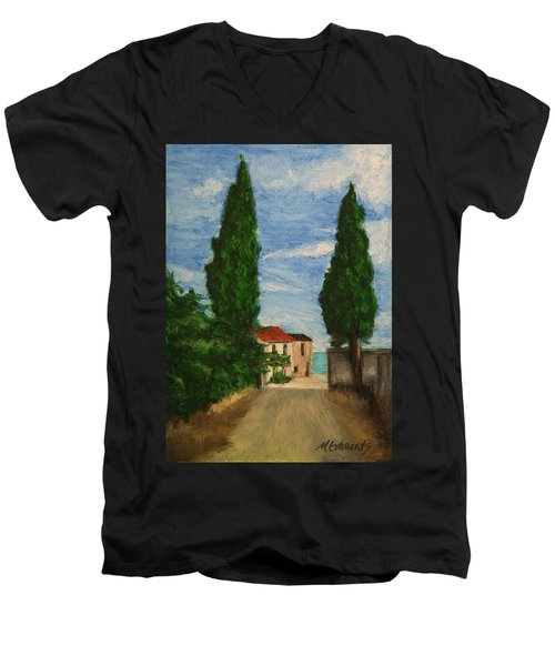 Mini Painting, Portugal Men's V-Neck T-Shirt by Marna Edwards Flavell