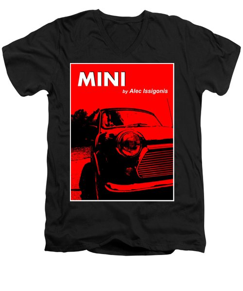 Men's V-Neck T-Shirt featuring the photograph Mini by Richard Reeve