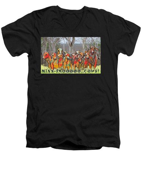 Minnamooooo...cows Men's V-Neck T-Shirt