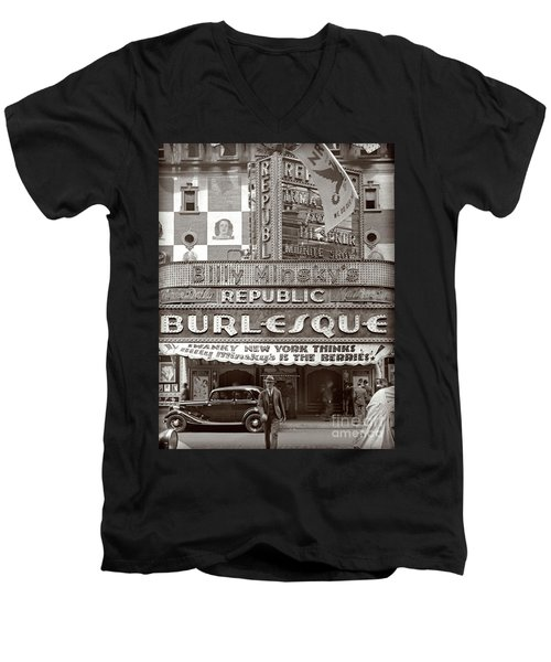 Minsky's Burlesque Theater New York Men's V-Neck T-Shirt
